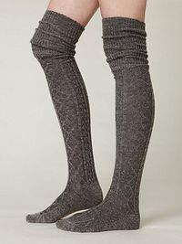 Gray Sweater Socks.