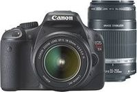 Canon EOS Rebel T2i 18.0MP DSLR Camera with 18-55 Lens & Extra 55-250 Lens ($800)