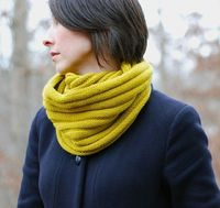 Mustard Yellow | Ribbed Cowl