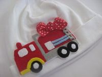 My Daddy is a Fire Fighter Baby Girl Beanie by lillybellabows, $23.00