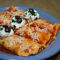 Mashed potato enchilada