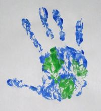 earth day hand print
