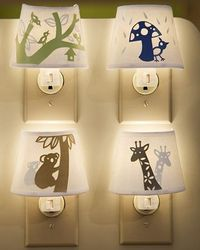 paper-cutout night lights, fun!