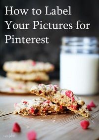 a how to for labeling pinterest pix