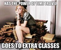 I'm like Hermione...but I think I'd use time travel more like a time Lord.
