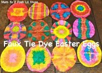 Faux Tie Dye (Coffee Filter) Easter Eggs
