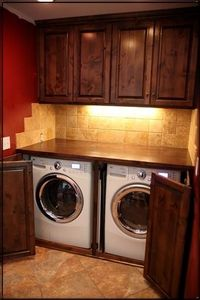 laundry hideaway - laundry can not fall behind machine