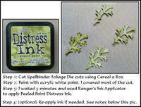 Spellbinder Foliage die cuts distress technique for cardmaking