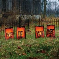 Lighted Halloween lawn decor